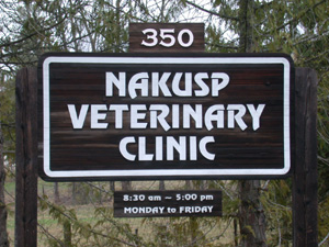 Nakusp Veterinary Clinic Sign